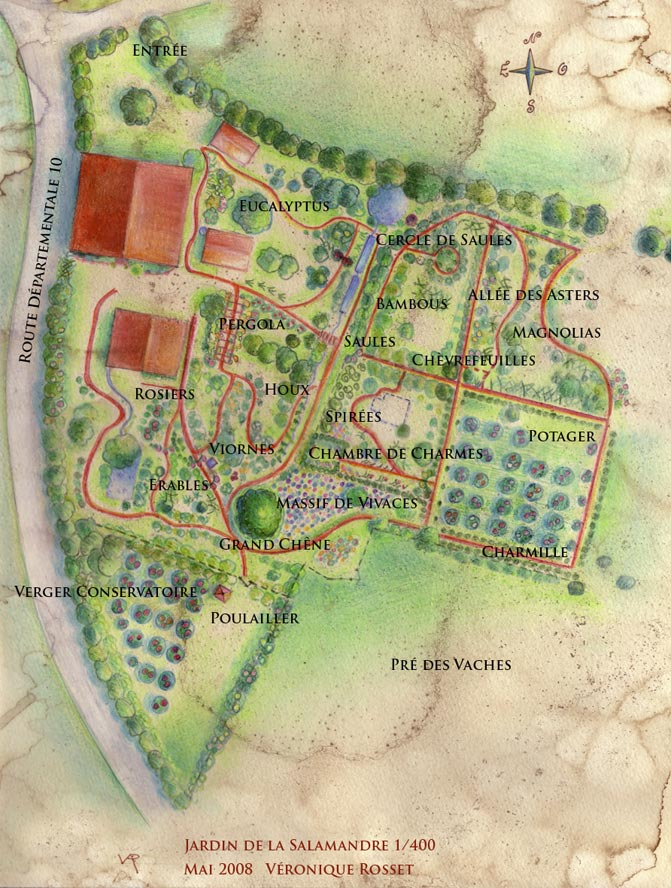Plan du jardin de la salamandre en dordogne for Plan jardin mac